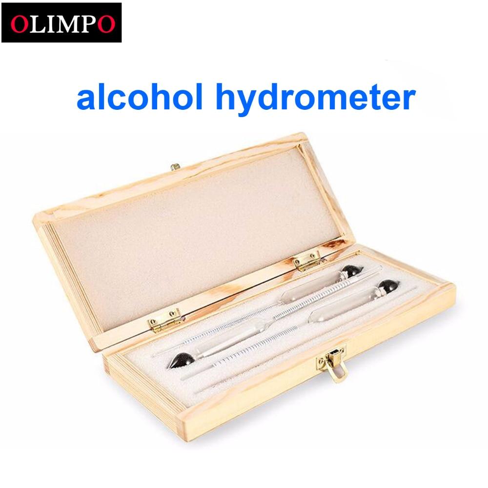 Analysatoren Honig 3 Stücke Weinherstellung Hydrometer Alkohol Meter Tester Professionelle Konzentrationsmesser Für Wein Alkohol Mit Thermometer Messen Test Werkzeuge
