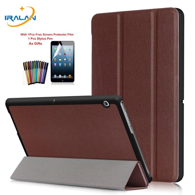 Cuero de la PU Folio Stand funda inteligente para Huawei MediaPad T3 10 AGS-W09 AGS-L09 Tablet cubierta para Honor juego Pad 2 9,6 + película + stylus
