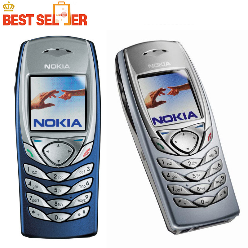 Original Refurbished Nokia 6100 Mobile Phone Unlocked 2G GSM Tri-Band Nokia 6100 Mobile Cell Phone Nokia Phone feature phone