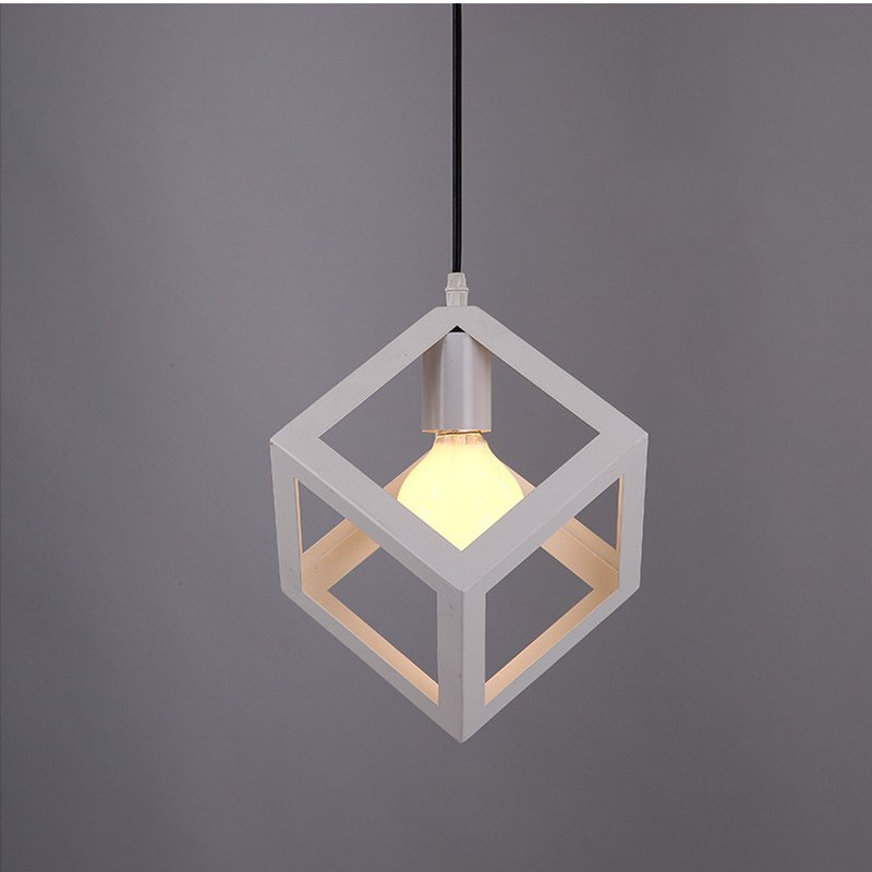 Single Head Nordic Retro Iron Pendant Lamp Creative Square Shape Art Restaurant Light Hallway Light Cafe Bar Light Free Shipping light the mediterranean restaurant in front of the hotel cafe bar small aisle entrance hall creative pendant light df57