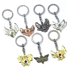 Game LOL Keychain Legends Key Chain hero League Rank Ring Holder Chaveiro Jewelry Dropshipping