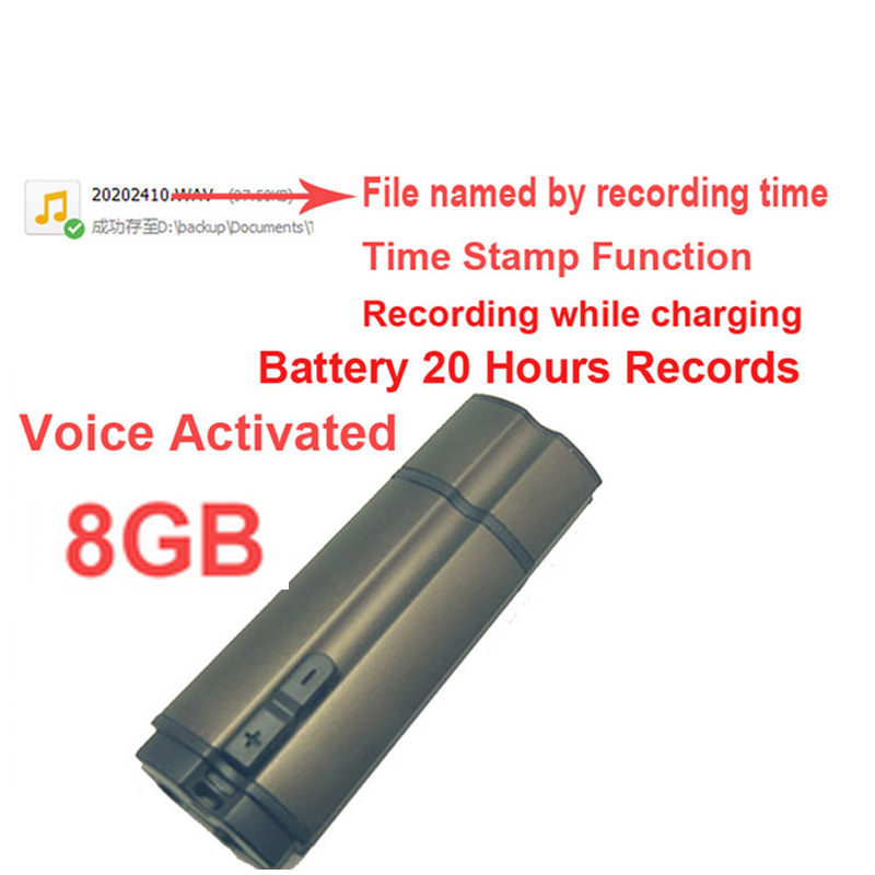 S6 8GB time stamp+voice activated+file name by record time 20H work audio recorder voice recorder,USB flash disk voice recorder 2 in 1 8gb usb flash drive voice recorder portable small lecture recorder