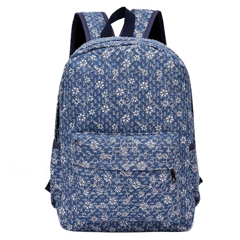 все цены на Women Printing Backpacks Backpack For Women And Men Rucksack Fashion Canvas Bags Retro Casual School Bags Travel Bags онлайн