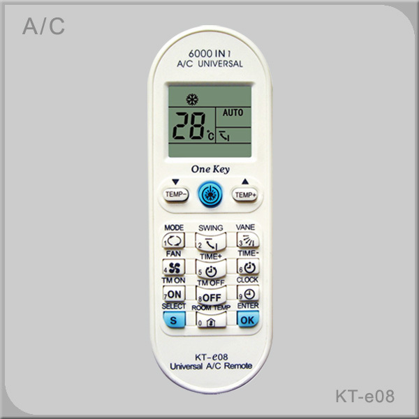 Free shipping lcd universal air condtioner a c remote for 1000 in 1 universal a c remote code table