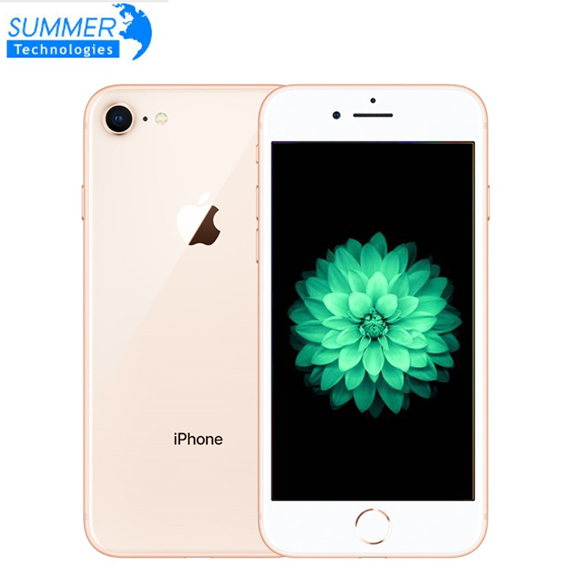 "Used Apple IPhone 8 2GB 64GB Smartphone Original Unlocked LTE Mobile Phone  4.7"" 12.0MP Hexa Core 2GB RAM  IOS  Fingerprint"