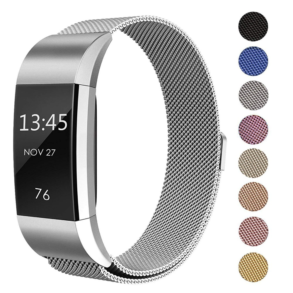 AWINNER for Fitbit Charge 2 Bands Magnetic Stainless Steel Replacement Strap Bandje for Fit Bit Charge2 Fitness WristbandAWINNER for Fitbit Charge 2 Bands Magnetic Stainless Steel Replacement Strap Bandje for Fit Bit Charge2 Fitness Wristband