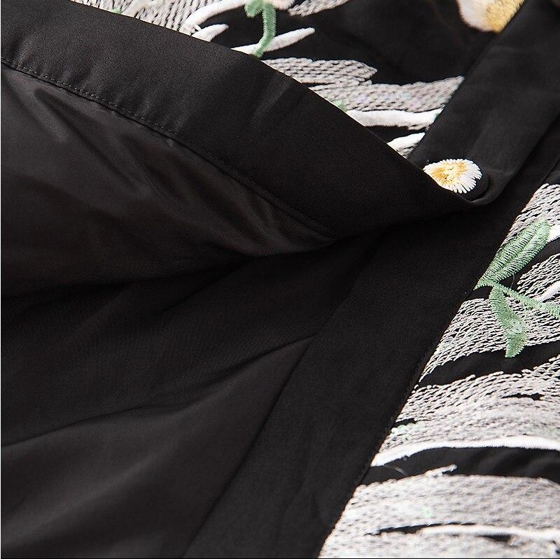 Chaud white Femme Soie Long Unique Qualité Broderie Black Canard Duvet Hiver De 2018 Poitrine Veste Manteau Femmes Luxueux Parka Top 1Y4pwqHq