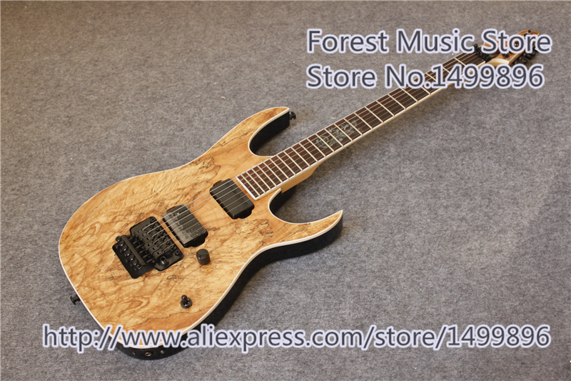 все цены на China Custom Shop Lizard Inlay Natural Wood Grain Finish Electric Guitars With Black Floyd Rose Tremolo