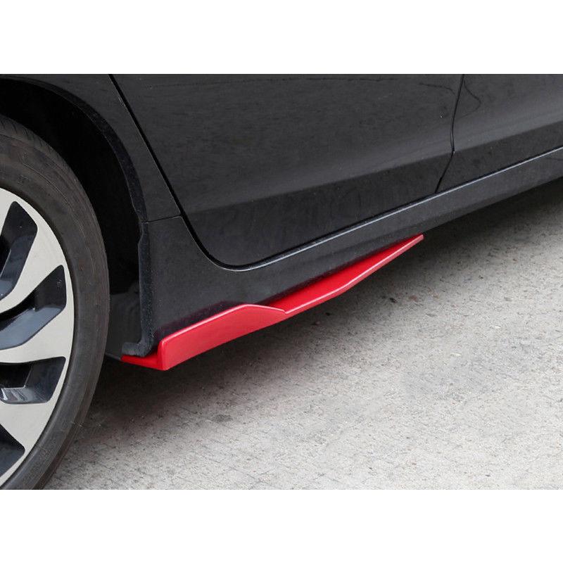 2x 74.5cm Red Car Side Skirt Spoiler Rocker Splitter Auto Bumper Canard Diffuser Winglet Wings High Quality
