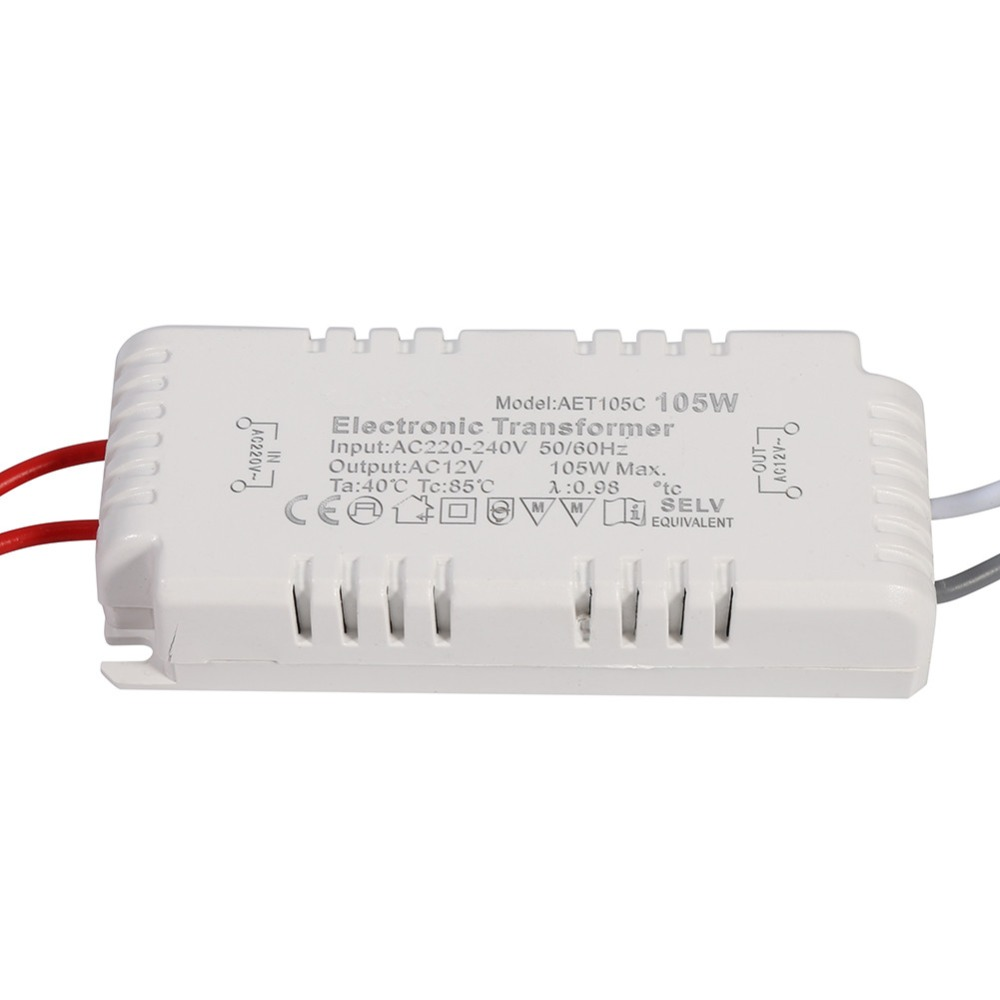 105W Electronic Transformer Dimmable 220V-12V Led Light Lamp Bulb Driver Power Supply Volatage Converter