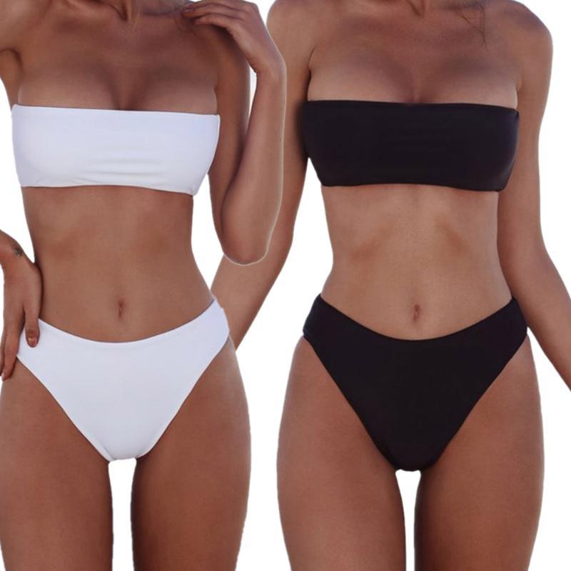 Envuelto pecho sexy vendaje bikini mujeres bandage bikini push-up acolchado BRA traje de baño bañador bañadores biquini