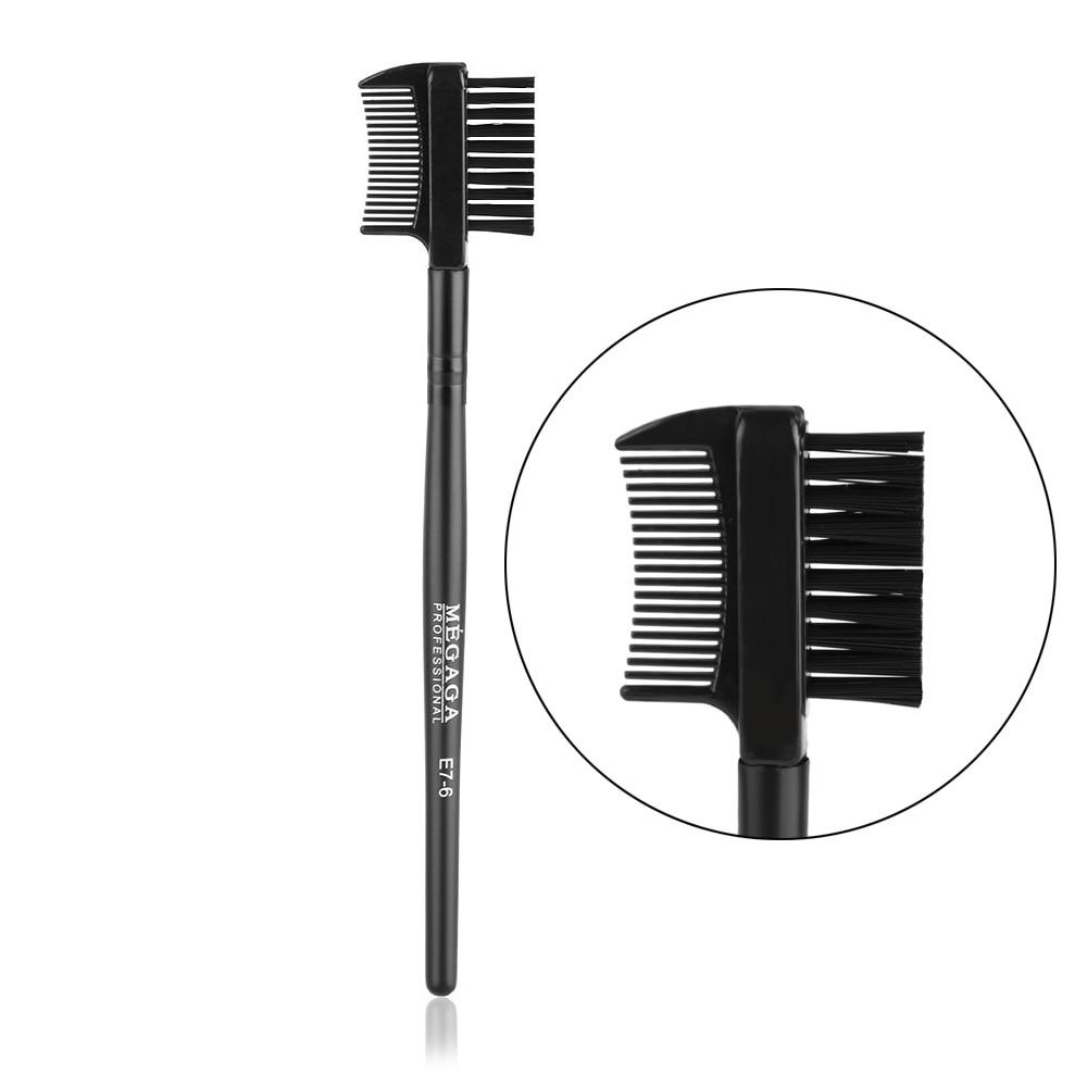 1 Pc New Multifunctional Beauty Black Dual Purpose Eyelash Eyebrow 2in1 Brush Comb Makeup Cosmetic Tool