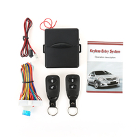 Universal Car Auto Remote Central Door Kit Locking Keyless Entry System With 2 Remote Control DD