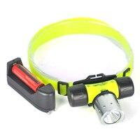 2000Lm XM L T6 LED Swimming Headlight Diving Headlamp Waterproof Underwater 50M