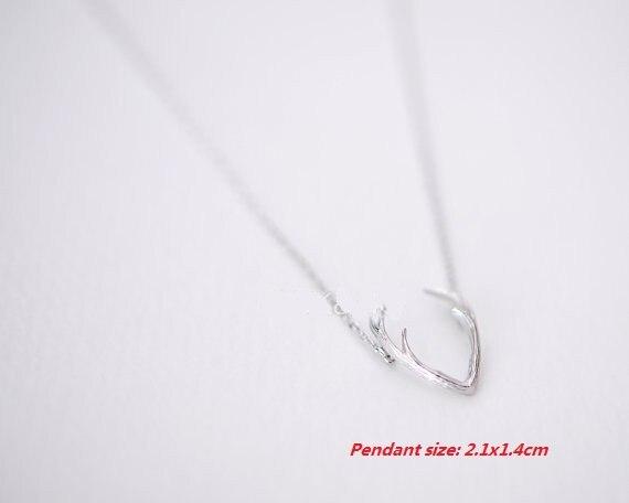 30Pcs/lot 2016 Fashion Wholesale Horn Necklaces Antler Animal Necklaces Pendants for Women Minimalist Necklaces Chokers Necklace