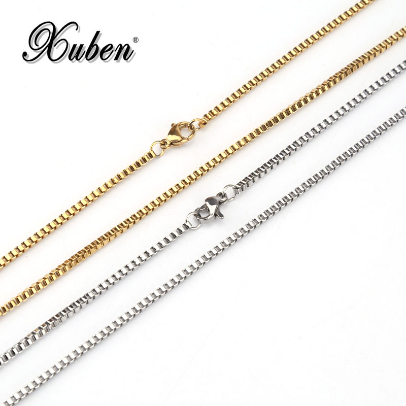 Stainless steel Brand Necklace Long Choker Wholesale 2.5MM Vintage Punk Silver/Gold Color Chain For Women/Men Jewelry cadia