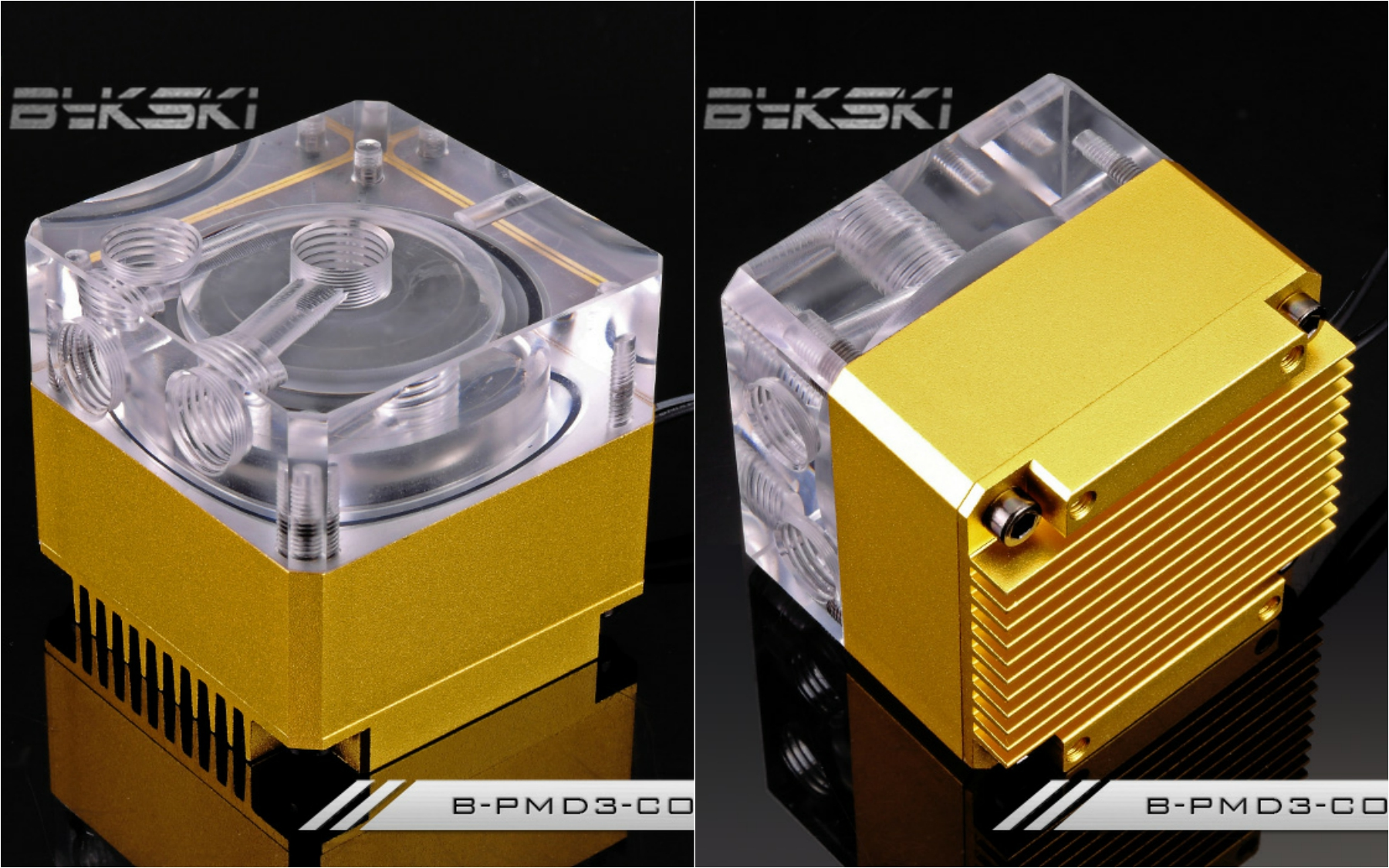 Bykski B-PMD3-COV Water Cooling Pump with Heatsink 500L DDC Golden bykski b pump pav water cooling pump with heatsink 300l