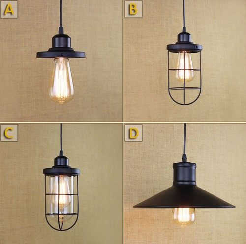 Nordic Loft Iron Art Droplight Edison Pendant Light Fixtures Vintage Industrial Lighting For Dining Room Bar Hanging Lamp nordic vintage loft industrial edison spring ceiling lamp droplight pendant cafe bar hanging light hall coffee shop store
