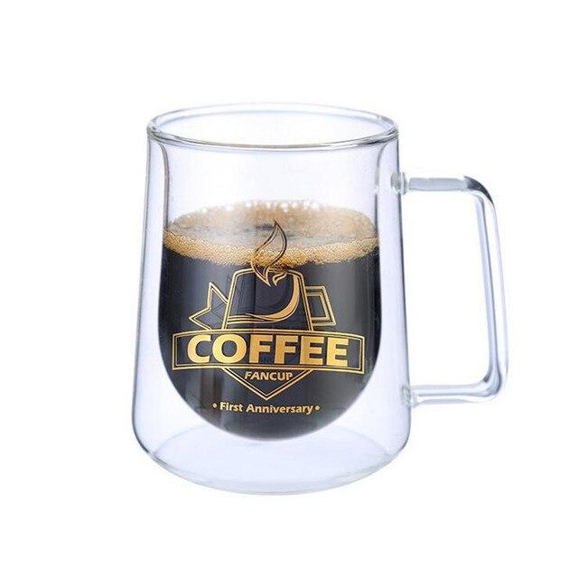 2019 패션 높은 품질 더블 벽 머그잔 사무실 머그잔 단열 더블 커피 머그잔 커피 컵 drinkware
