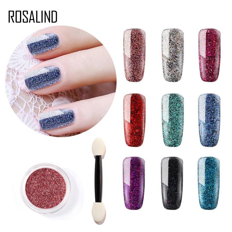 Rosalind 1 Stücke Nagel Glitter Shinning Pigment Glitter Nail Art Benötigt Uv/led Lampe Tränken Weg Von Magie Shiny Maniküre Entwickelt Pulver 2019 Offiziell Nagelglitzer Nails Art & Werkzeuge