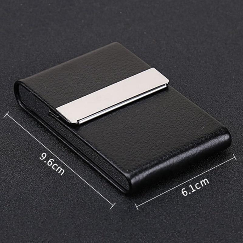 Визитница унисекс, высокое качество, кредитная карта, пакет, держатель для карт, двойной открытый чехол для визиток, Titular De La Tarjeta