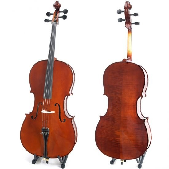 Free shipping New 4/4 Size Solid wood Cello with pernambruco Bow Rosin  and Soft Bag handmade new solid maple wood brown acoustic violin violino 4 4 electric violin case bow included