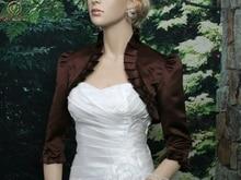 2019 New Design Vintage Women Wraps Elegant Black Ruffle Boleros Half Sleeve Satin Evening Dresses Wedding Formal Party Jackets