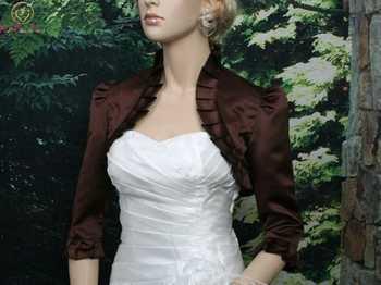 2019 New Design Vintage Women Wraps Elegant Black Ruffle Boleros Half Sleeve Satin Evening Dresses Wedding Formal Party Jackets - DISCOUNT ITEM  30% OFF All Category