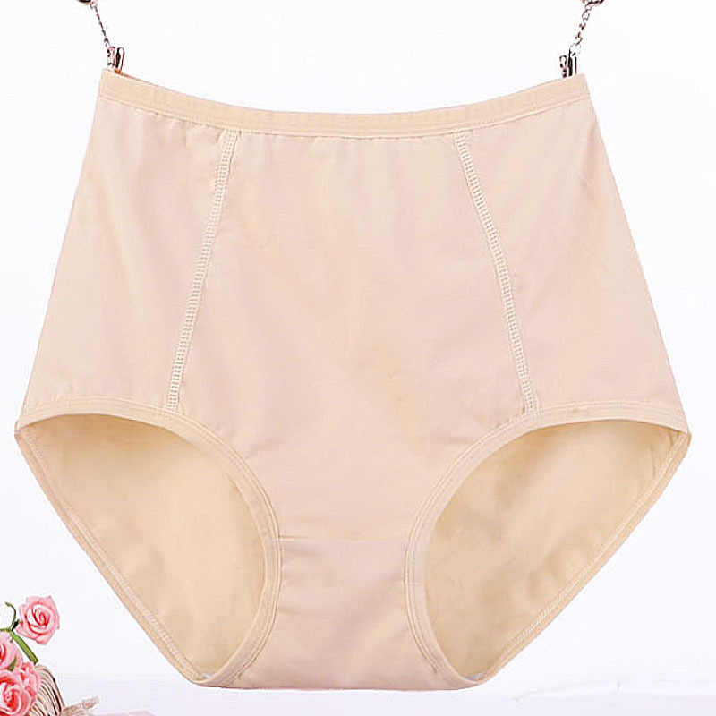 3 pçs/lote tamanho grande XL-6XL sexy cintura alta das mulheres de algodão calcinha sólida respirável cuecas cueca lingerie calcinha