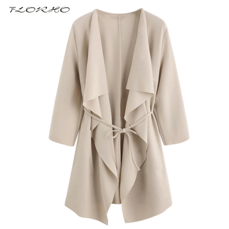 Autumn Spring Women 3/4 Sleeve Waterfall Collar Long Kimono Cardigan Female Elegant Loose Solid Color Blouse Shirt Plus Size 5XL