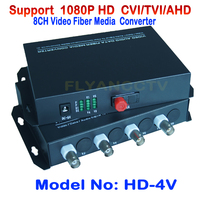 4 канала 1080 P HD ХВН AHD TVI видео Волокно media converter оптический коаксиальный для 1080 P 720 P HD AHD CVI TVI Камера CCTV