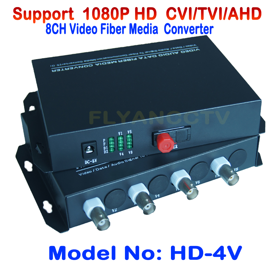 4 Channel 1080p HD CVI AHD TVI Video Fiber Media Converter Optical Coaxial - For 1080p 720p HD AHD CVI TVI Camera CCTV