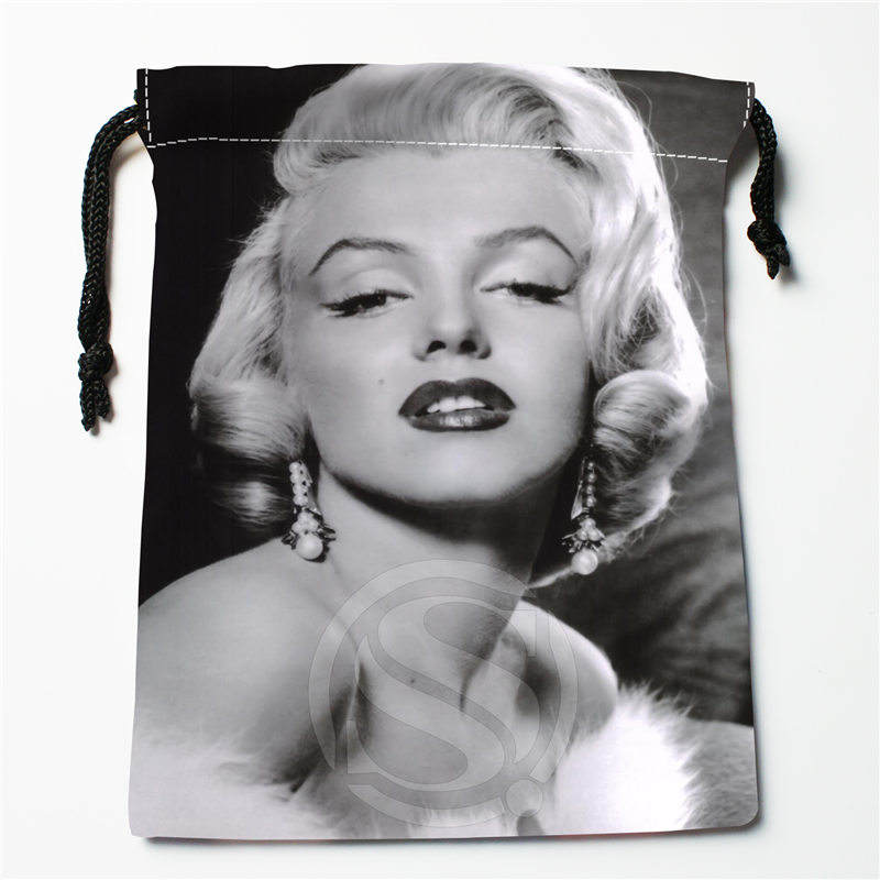 Fl-Q157 New Marilyn Monroe &1 Custom Printed  Receive Bag  Bag Compression Type Drawstring Bags Size 18X22cm 711-#Fl157