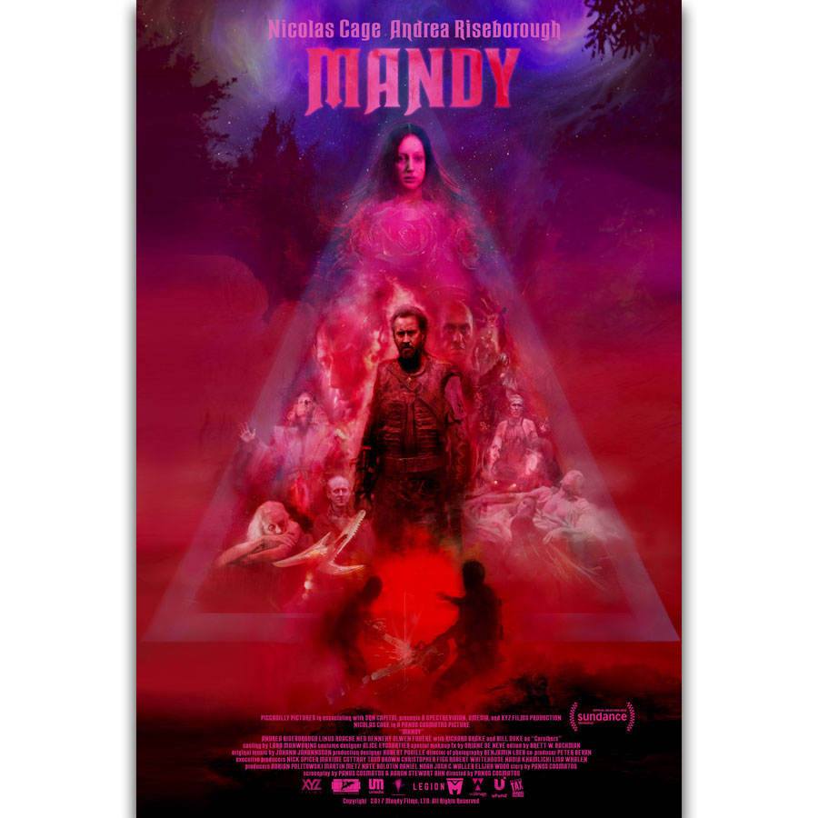 S2111 Mandy 2018 Movie Nicolas Cage Actor Wall Art Painting Print Silk Canvas Poster Home