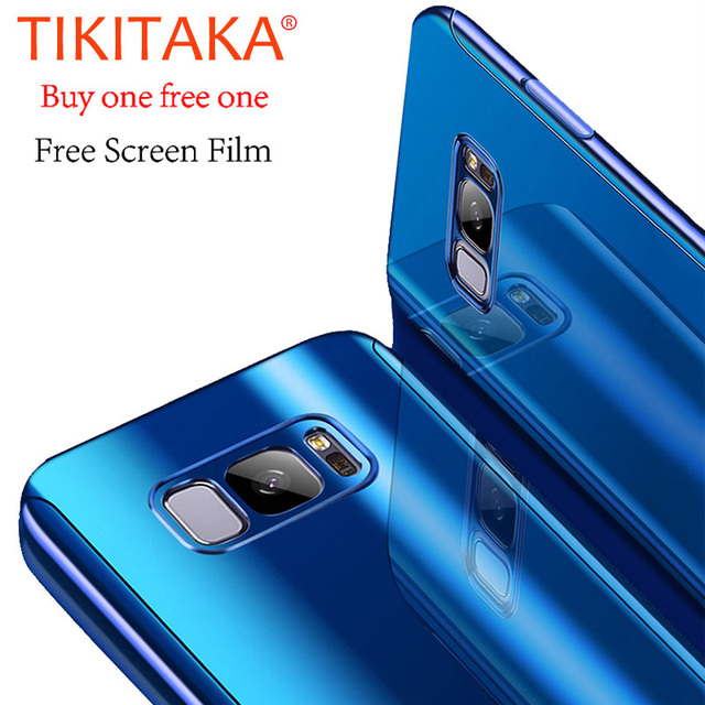 size 40 83593 ad47a US $7.37 25% OFF Luxury Laser Plating Mirror 360 Full Protection Case For  Samsung Galaxy S9 S8 Plus Cover Ultra thin Shockproof Armor Free Film-in ...