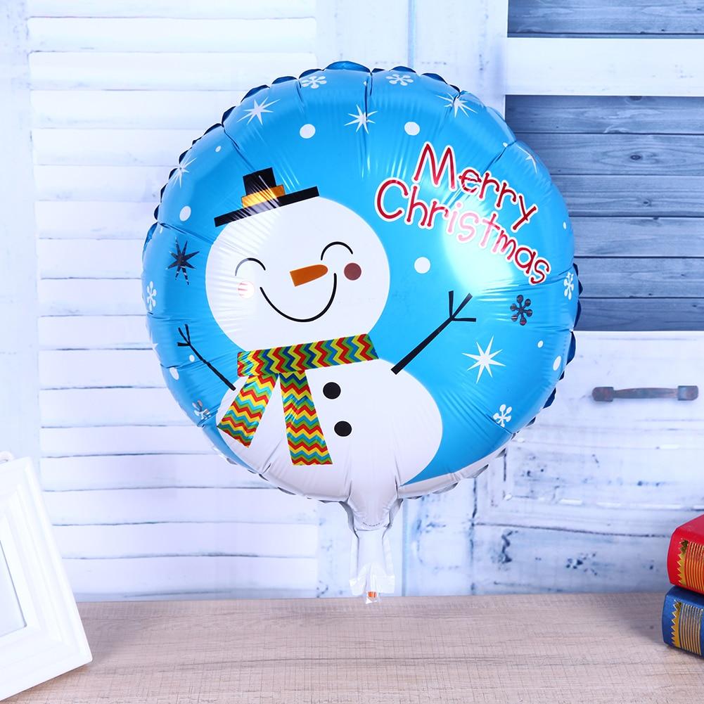 5pcs Christmas Aluminum Foil Balloons snowman Christmas tree Santa Claus Inflatable Air Balls Chritmas Party Decoration Gift