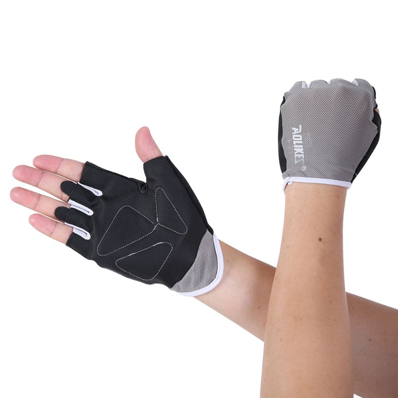 Summer Men And Women Fitness Gloves Gym Weightlifting Cycling Bodybuilding Training Thin Breathable Non-slip Half Finger Gloves