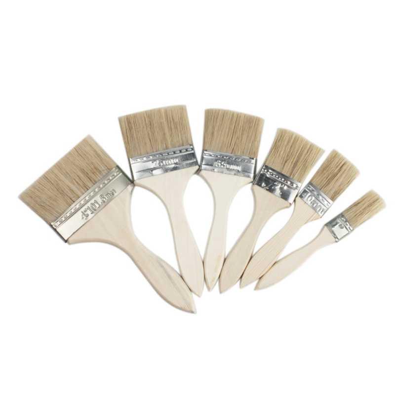 1 pulgada 2 pulgadas cepillo industrial 3 pulgadas mango de madera cepillo de barbacoa cepillo de aceite personalizado fábrica al por mayor pincel para el cabello