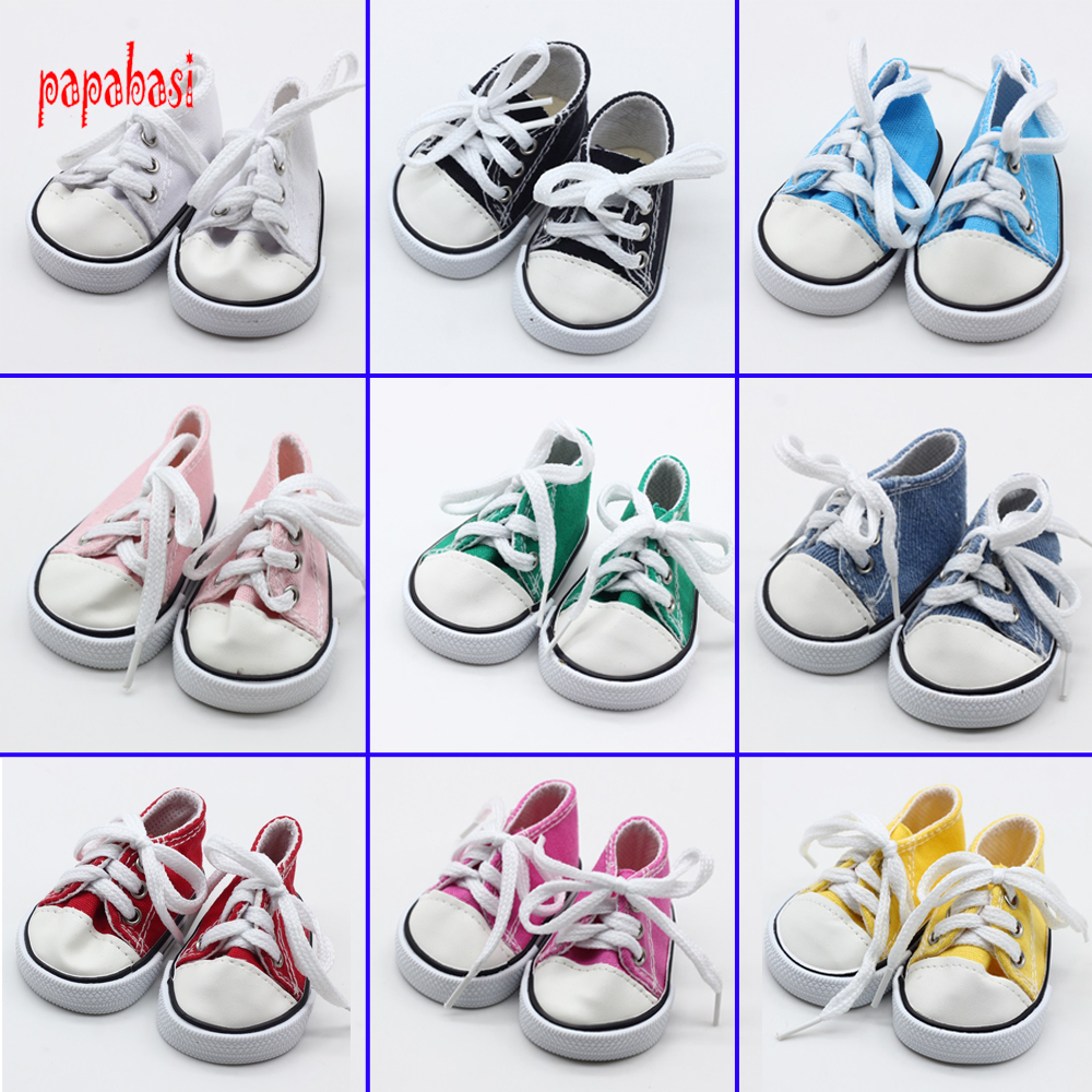Cute 18Inch Baby Born Doll Shoes For American Girl dolls Baby Born Doll Clothes Accessories Fashion Handmade Sneakers Doll Dress princess dress for 18 inches american girl doll children bjd baby born dolls handmade accessories toy christmas birthday gift