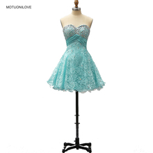 Full Beaded Turquoise Short Cocktail Dresses Fashion Designer Sweetheart Crystal Party Gown Real Picture Vestido De Festa Custom