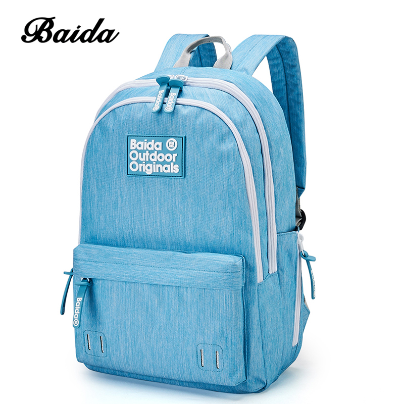 BAIDA School Backpack Women 15.6 Inch Laptop Schoolbag Large Capacity Youth Fashion Male Bags for Teenagers Girls Satchel sosw fashion anime theme death note cosplay notebook new school large writing journal 20 5cm 14 5cm