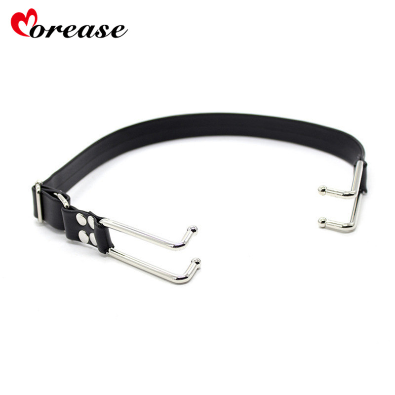 Morease Mouth Gag Oral Leather Open Hook Plug Bite Couples Flirt Fetish Bondage Erotic Sex Products Toys Juguetes Bdsm Harness