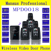 Wholesale High Quality 2.4G Digital Wireless Intercom System Door Bell wireless remote unlock 3 Indoor D18a