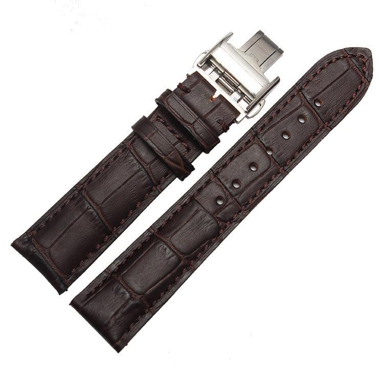 CARLYWET 18 19 20 21 22mm Bărbat Lady Real Real Piele de mână - Accesorii ceasuri - Fotografie 5