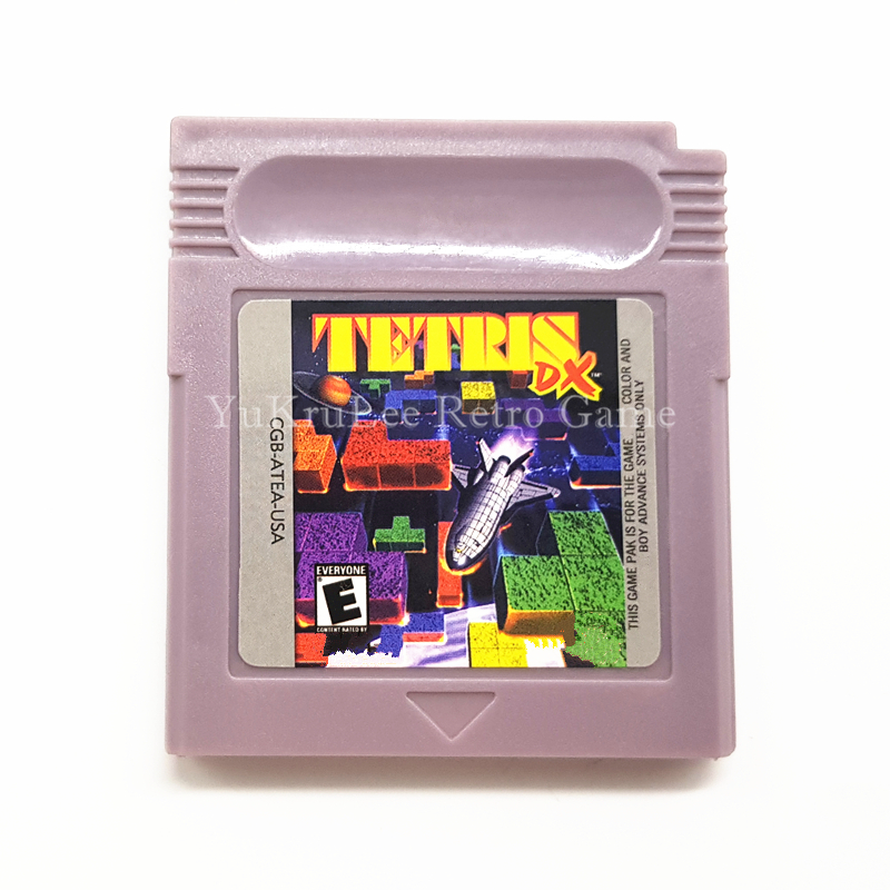 Tetris DX Video Game Memory Cartridge Card for 16 Bit Console Accessories