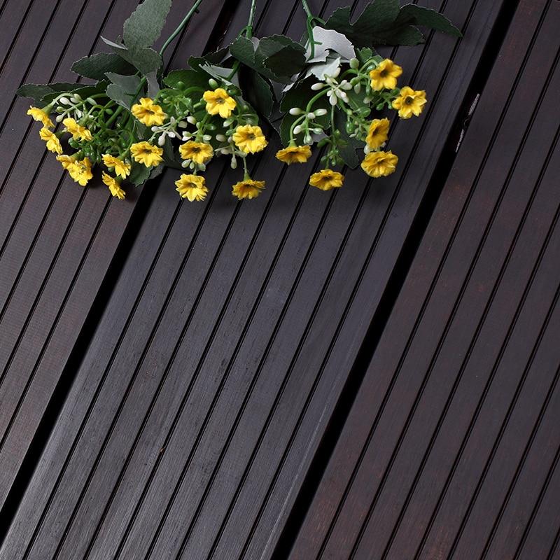 Xtr bamboo decking profile c strand woven outdoor better for Garden decking ornaments