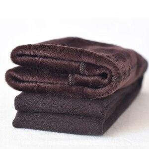 Image 2 - 1800D grube zimowe damskie rajstopy z polaru ciepłe rajstopy Slim Sexy elastyczna Collant rozciągliwe rajstopy pończochy pełnej stopy bez stóp