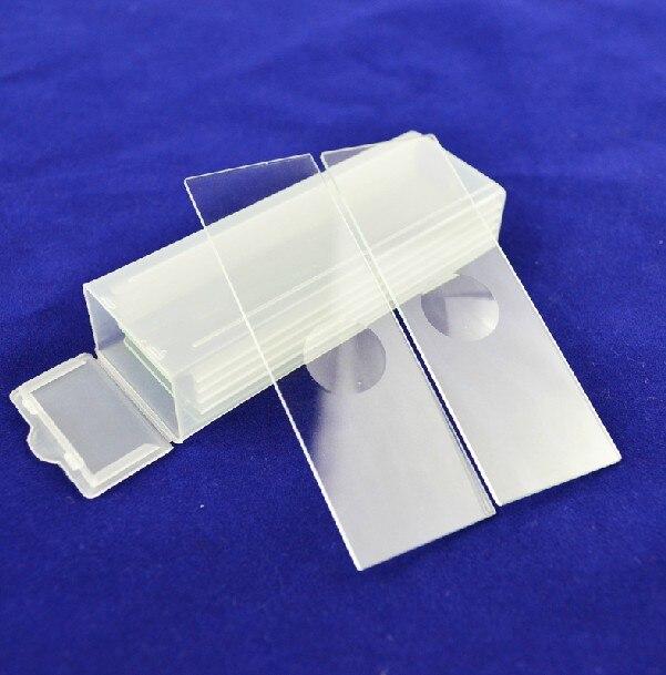 Kiváló minőségű 5 PCS-ben újrafelhasználható, egy konkáv mikroszkóp üres üveglemez-szeletes szelet, laboratóriumi fogyóeszközök folyékony mintákhoz