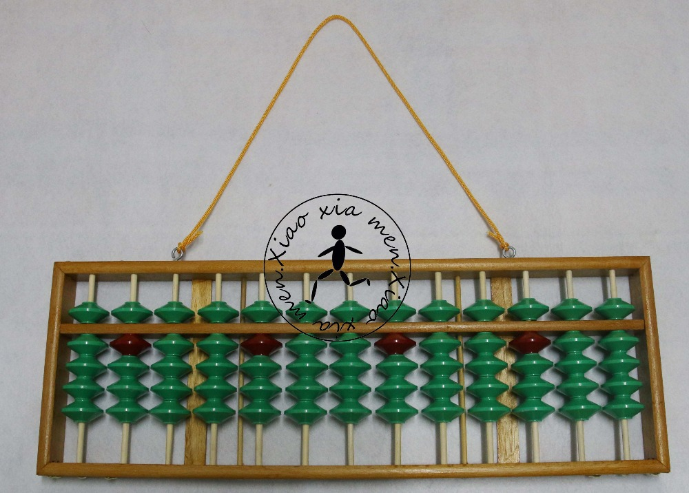 high quality 13 column wood non slip Abacus Chinese soroban Tool In Mathematics Education for teacher