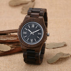 Wooden watch for men quartz wristwatch dress sandalwood band of wood watch clock man top brand.jpg 250x250